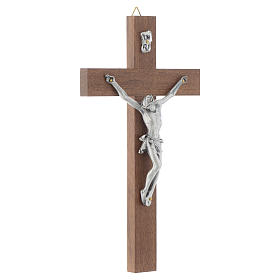 Wooden crucifix and metal body of Christ s3
