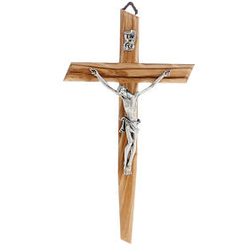 Wooden crucifixes: Modern crucifix in olive wood