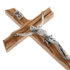 Modern crucifix in olive wood s3