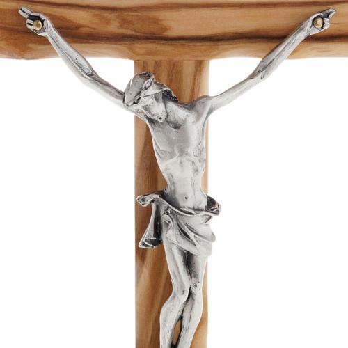 Modern crucifix in olive wood 2