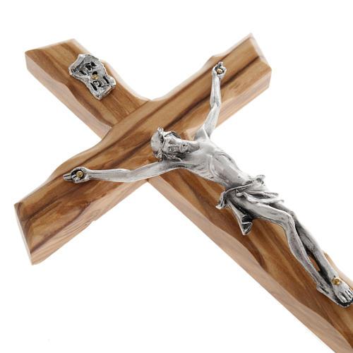Modern crucifix in olive wood 3