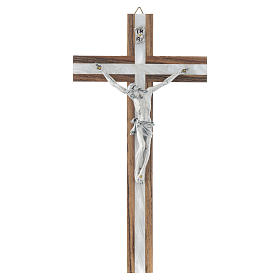 Crucifijo de madera y simil nácar s1