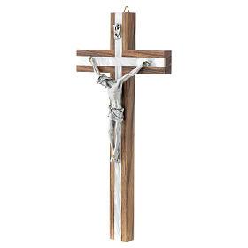 Crucifijo de madera y simil nácar s2
