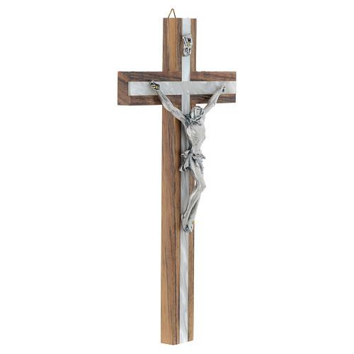 Crucifijo de madera y simil nácar 3