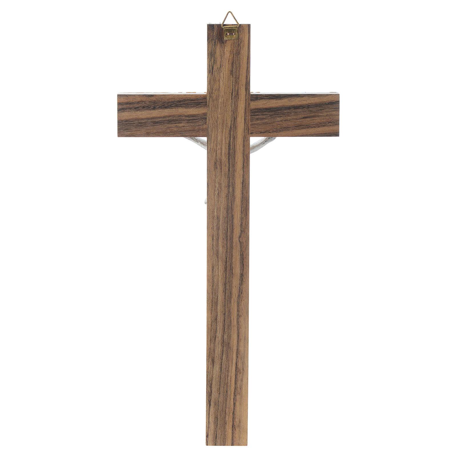 Crocefisso legno simil madreperla 4