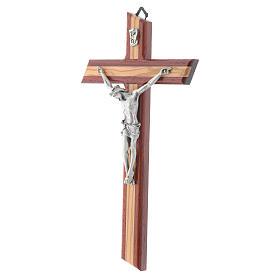 Crucifix in padauk and olive wood s2