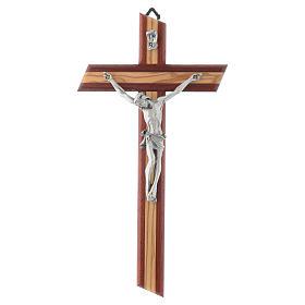 Crucifix in padauk and olive wood s1