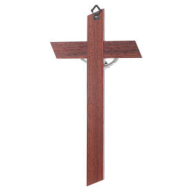 Crucifix in padauk and olive wood s4