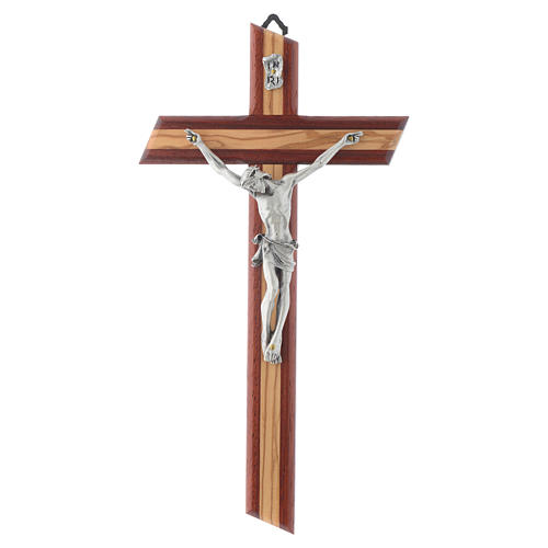 Crucifix in padauk and olive wood 1