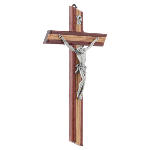 Crucifix in padauk and olive wood 3