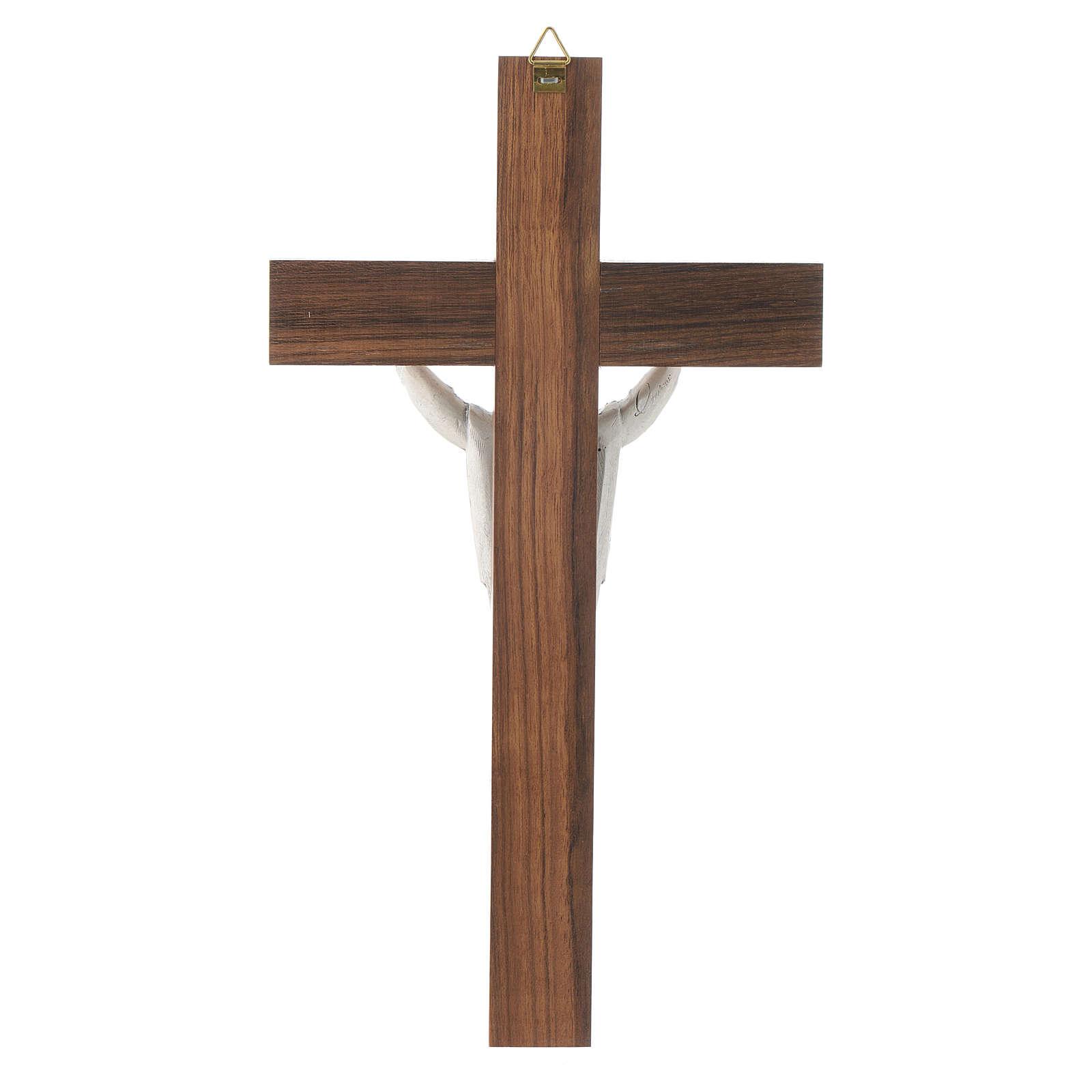 Crocefisso legno Cristo Risorto 4