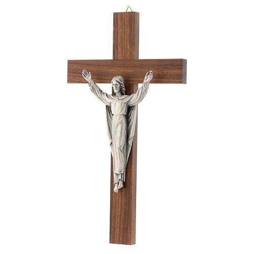 Crocefisso legno Cristo Risorto 2