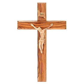 Holy Land Cross in natural olive wood s1