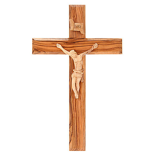 Holy Land Cross in natural olive wood 1