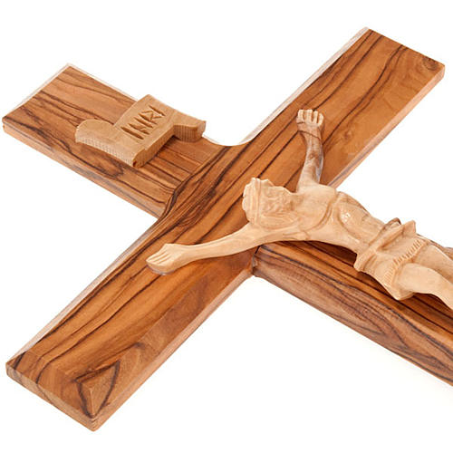 Holy Land Cross in natural olive wood 3