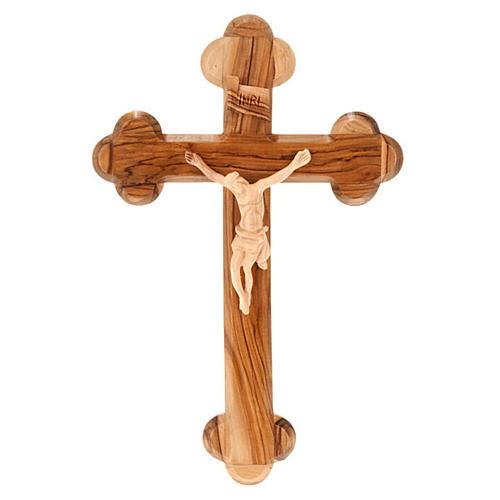 Croce Terrasanta ulivo naturale trilobata Israele 1