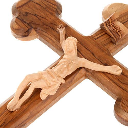 Croce Terrasanta ulivo naturale trilobata Israele 2