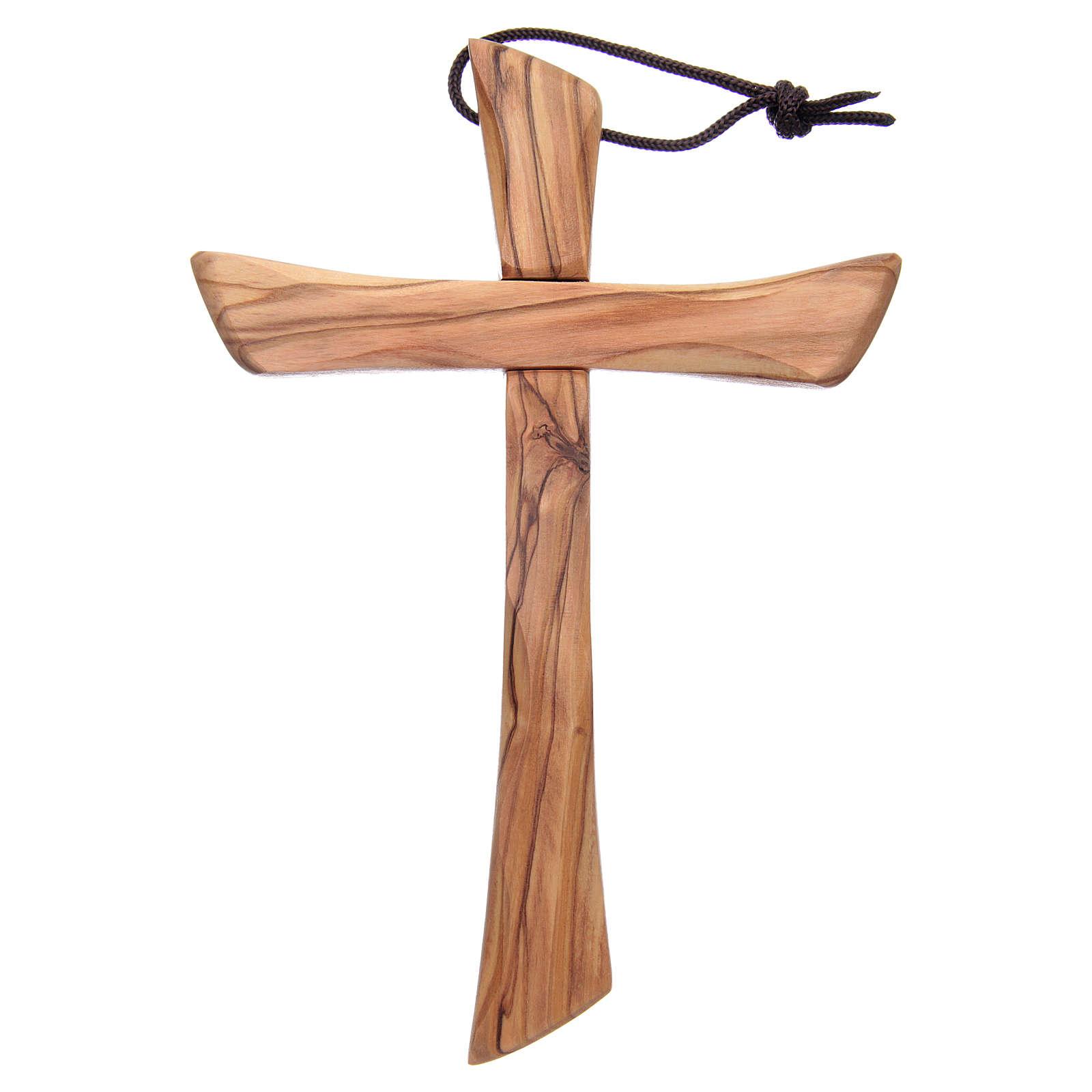 Kruez Oliven-Holz Heilig Land Israel abgerundete Rand 4