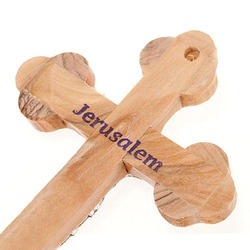 Croix trois lobes avec décors 13x9.5 cm 2