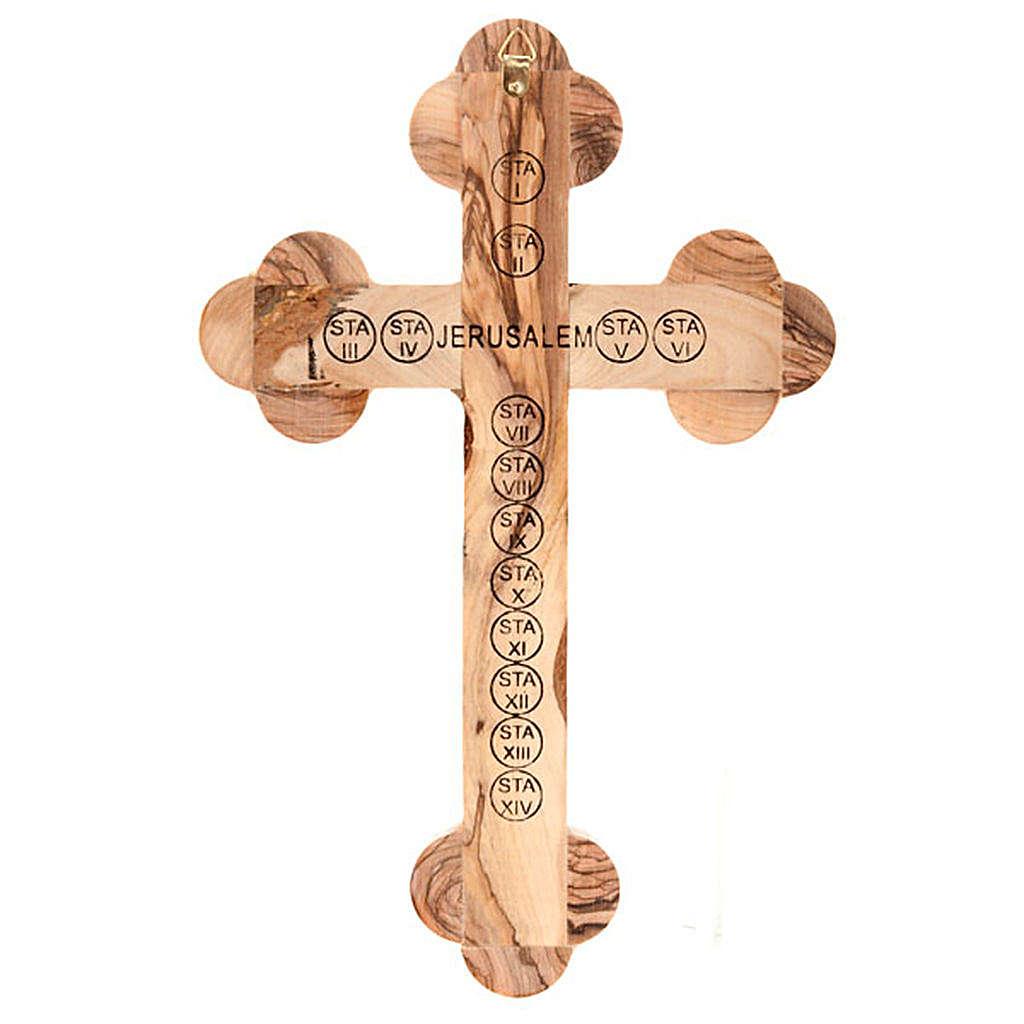 Croce Terrasanta trilobata con inserti 25x18 4