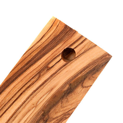Croix decorée Terre Sainte en bois d'olivier naturel 2