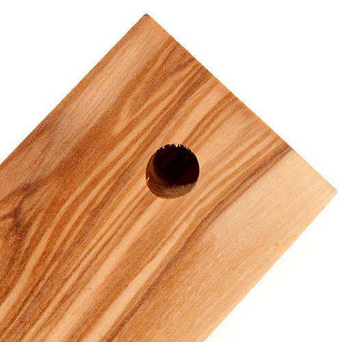 Croce Terrasanta ulivo naturale bordo ondulato 2