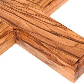 Croce Terrasanta ulivo naturale bordo lavorato s2