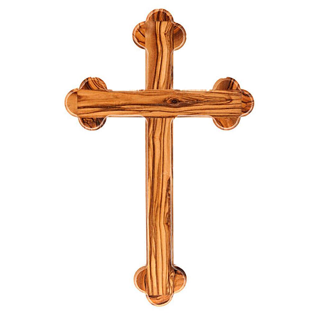 Croce Terrasanta ulivo nat. trilobata 4