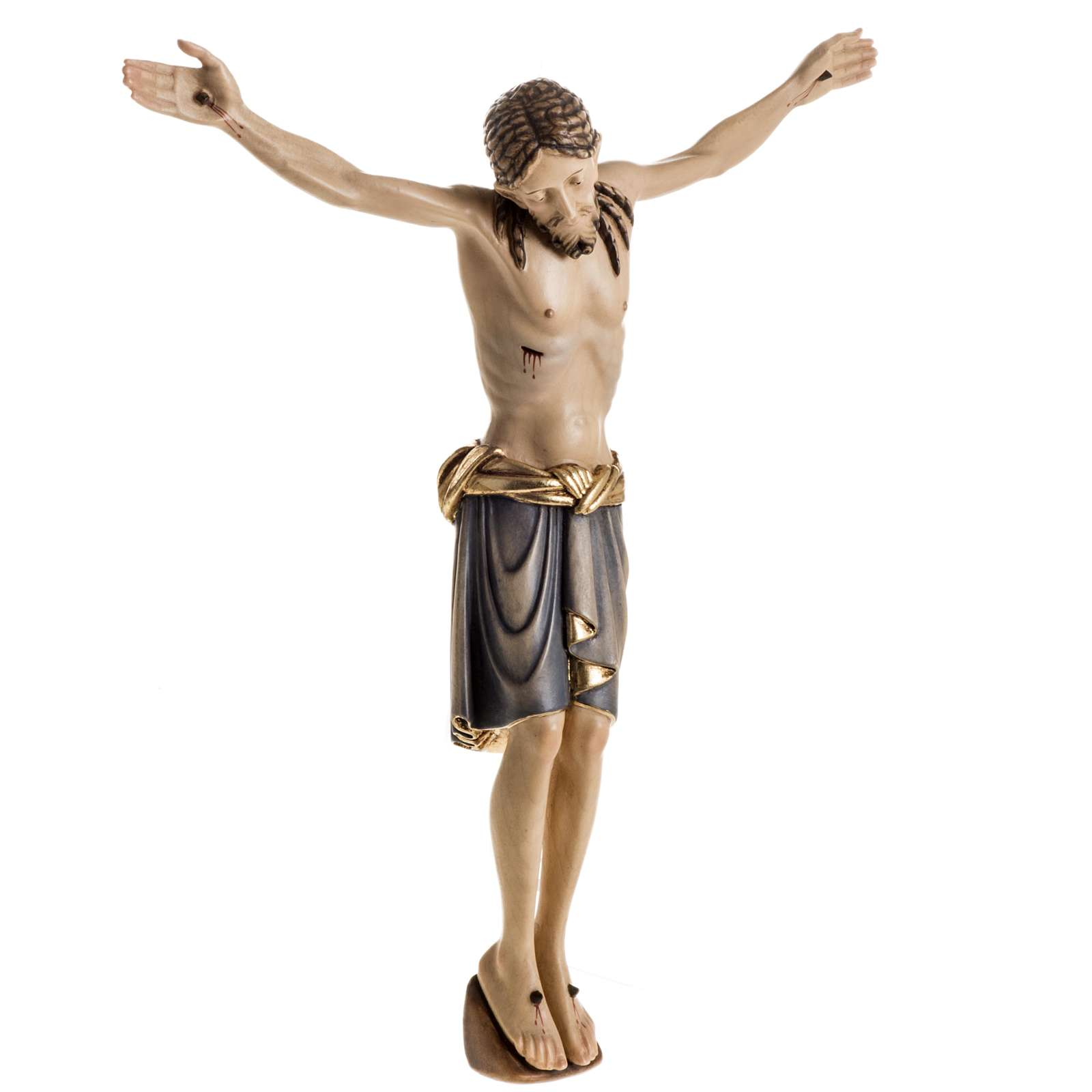Corps du Christ St Damien bois peint Val Gardena 4