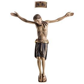Corps du Christ St Damien bois peint Val Gardena s1