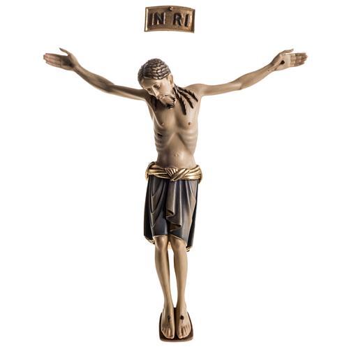 Corps du Christ St Damien bois peint Val Gardena 1