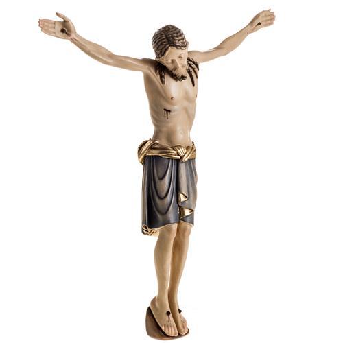 Corps du Christ St Damien bois peint Val Gardena 7