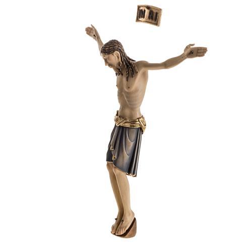 Corps du Christ St Damien bois peint Val Gardena 8