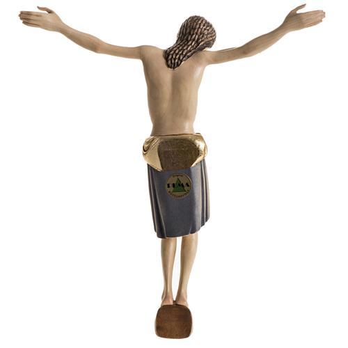 Corps du Christ St Damien bois peint Val Gardena 10