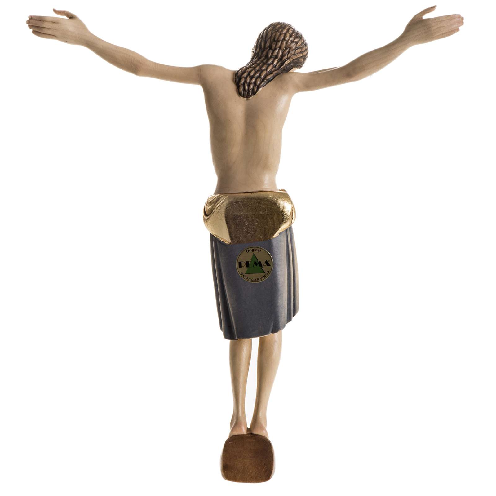 Body of Christ san Damiano painted wood, Val Gardena 4