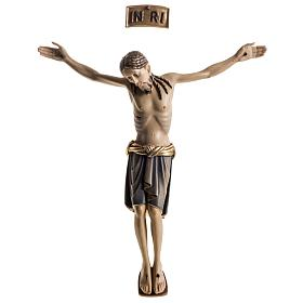 Body of Christ san Damiano painted wood, Val Gardena s1