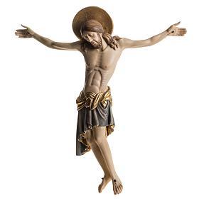 Cristo in legno dipinto Cimabue Val Gardena s1