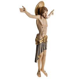 Cristo in legno dipinto Cimabue Val Gardena s6