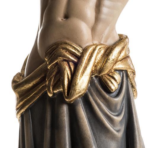 Cristo in legno dipinto Cimabue Val Gardena 3