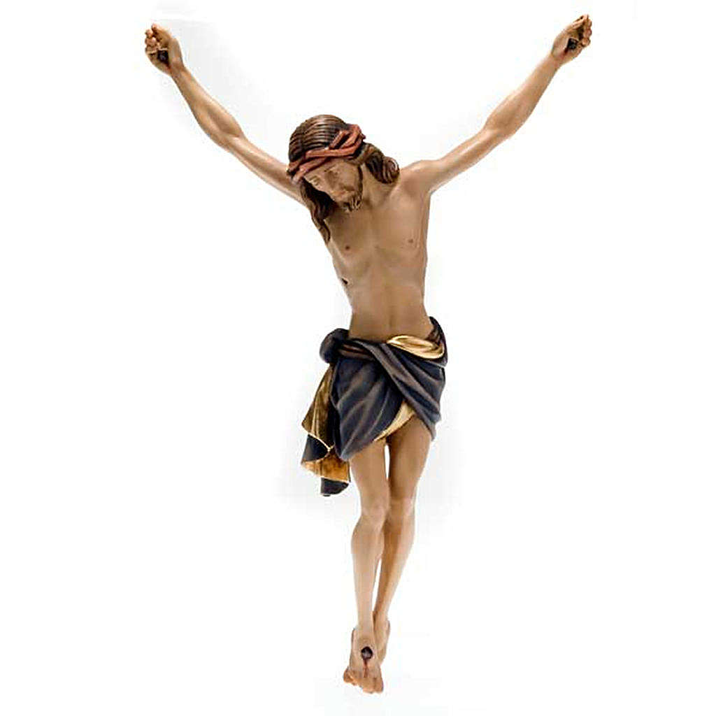 Cristo de madera pintado Siena Val Gardena 4