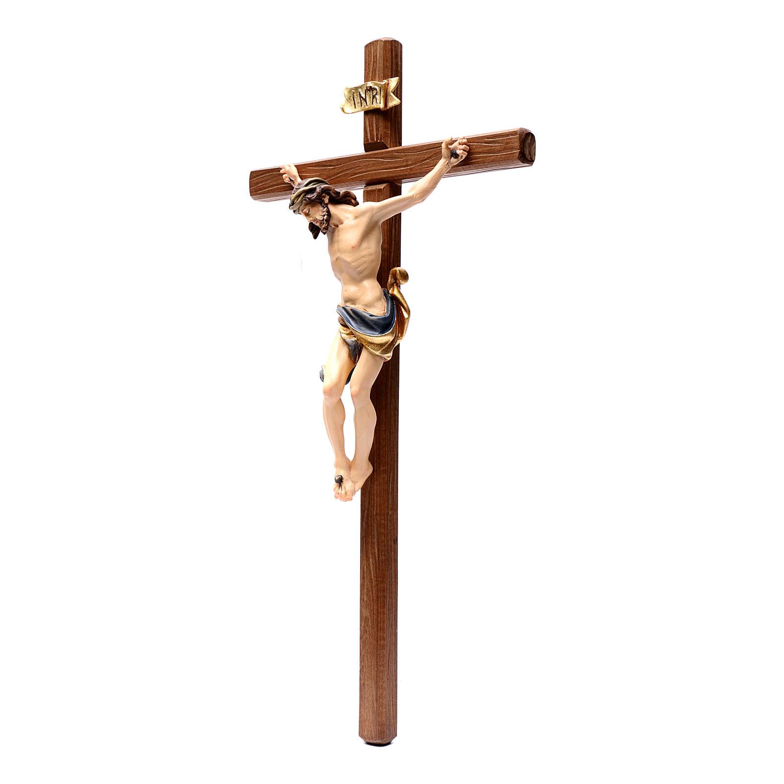 Crocifisso legno Leonardo dipinta Val Gardena 4