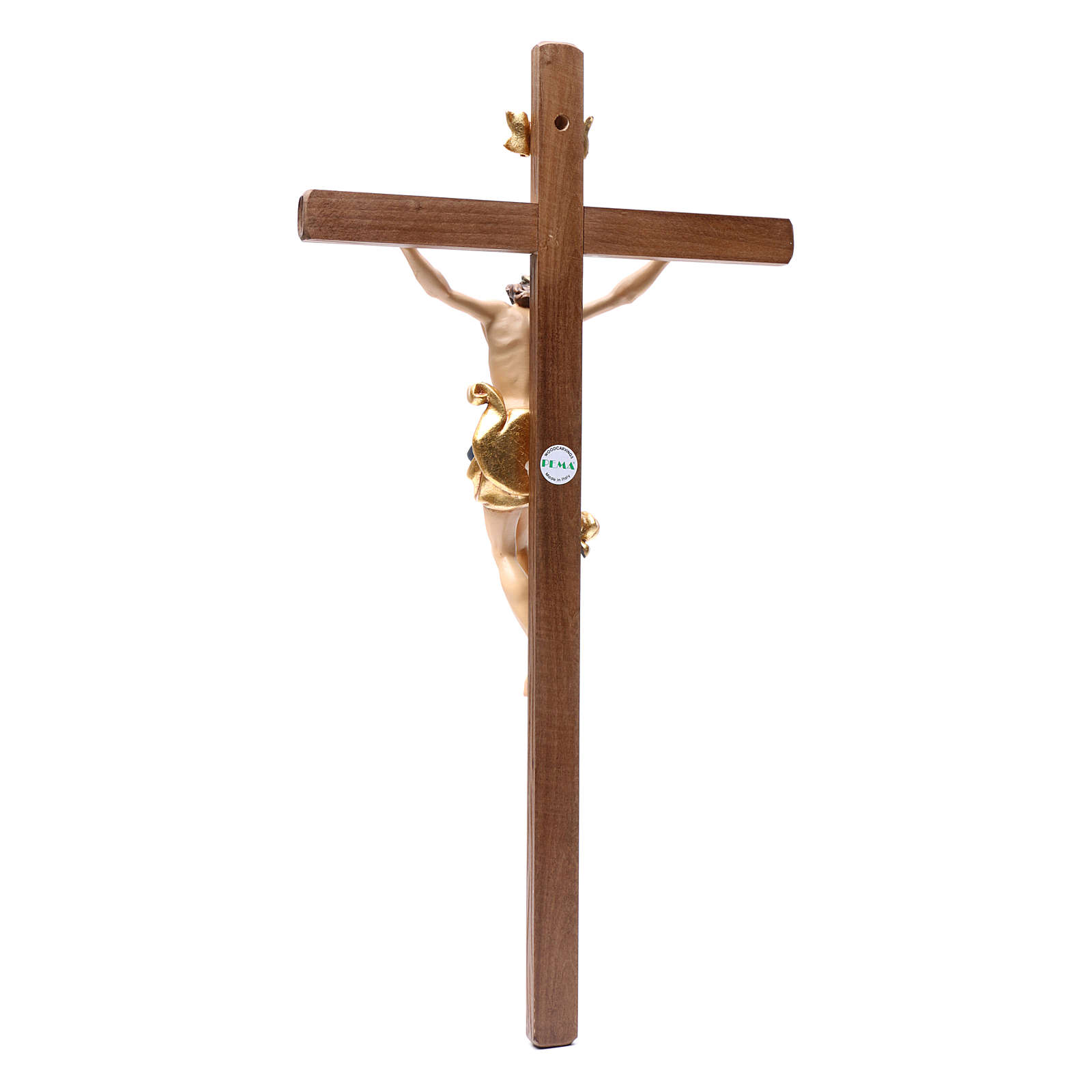 Crucifixo madeira Leonardo pintada Val Gardena 4