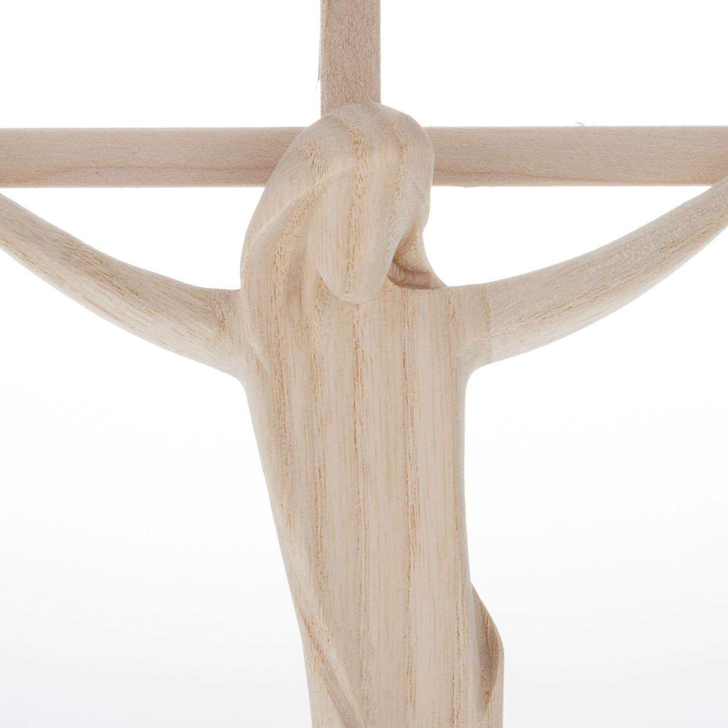 Crocifisso legno naturale Val Gardena