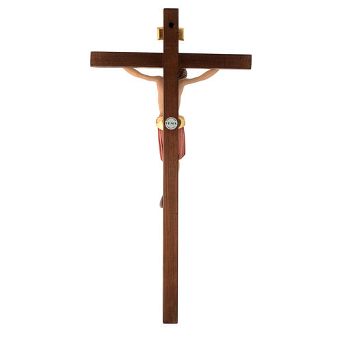 Crucifix bois peint Corps style Saint Damien 4