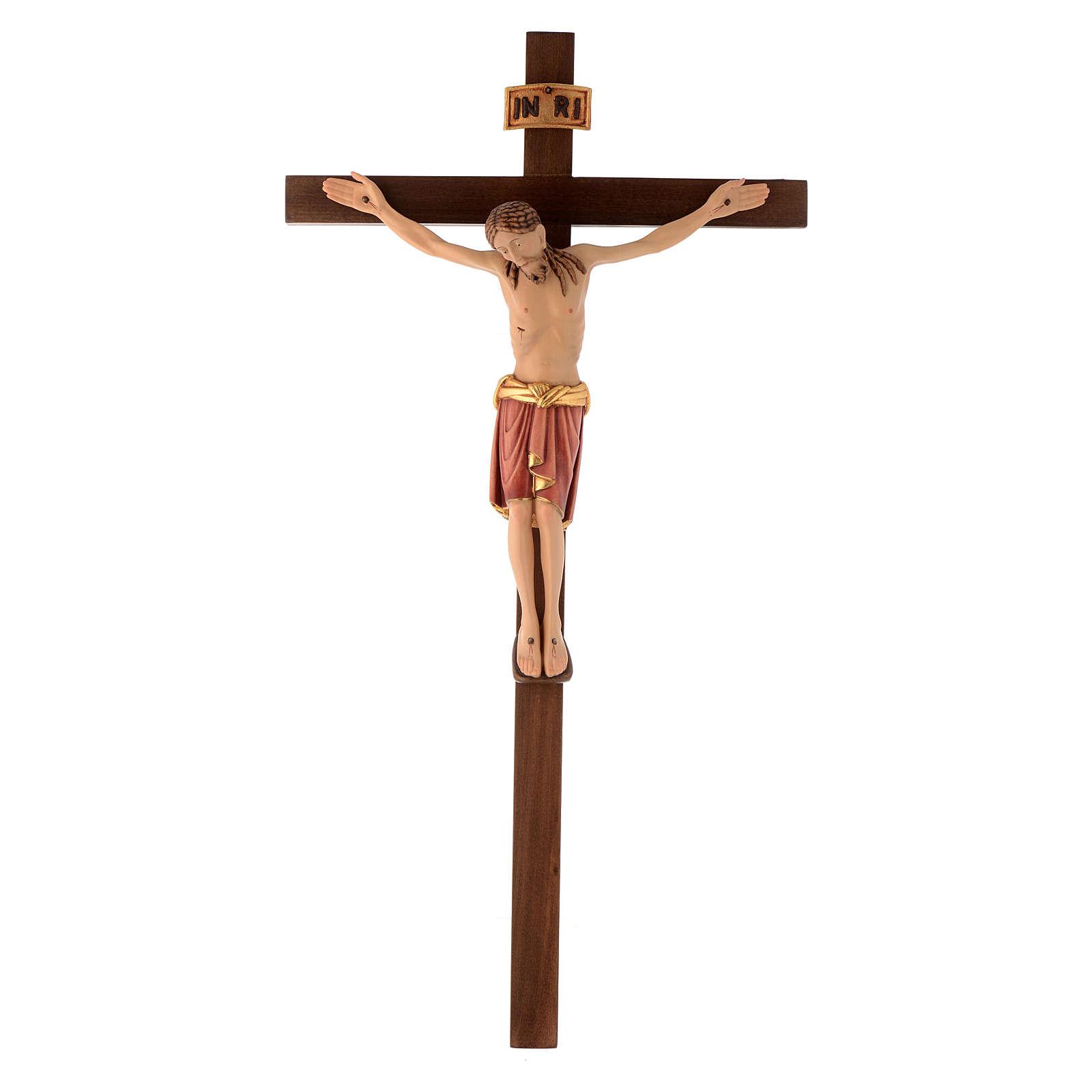 Crocefisso Val Gardena legno dipinto San Damiano 4