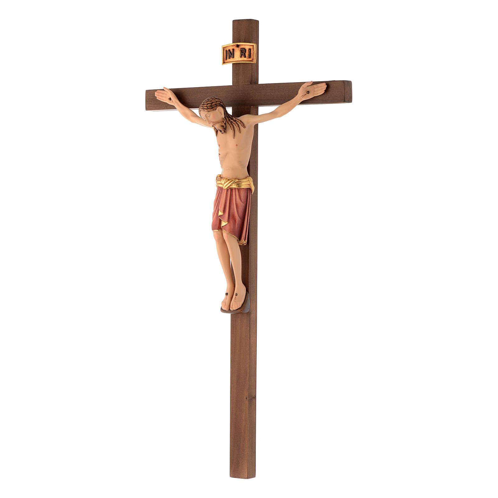 Wooden crucifix, Saint Damien style body of Christ 4