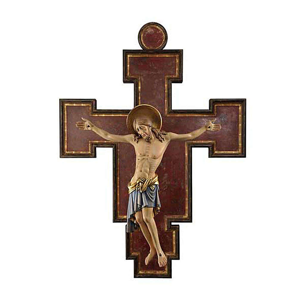 Crucifijo madera pintada Cimabue 125 cm 4
