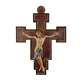 Crucifijo madera pintada Cimabue 125 cm s1