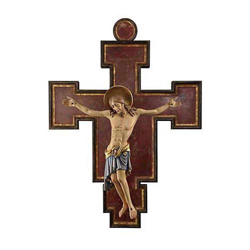Crucifijo madera pintada Cimabue 125 cm 1