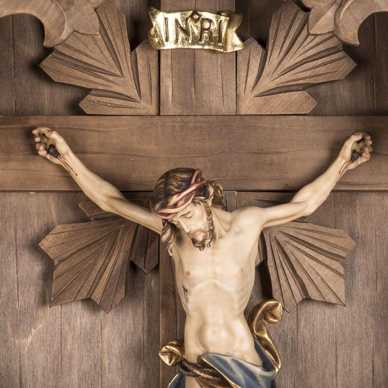 Croix de campagne et Corps du Christ bois 4